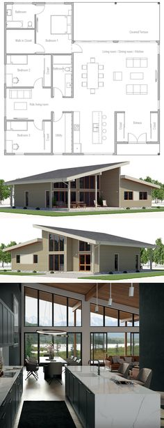 Architektur Floor Plan Floor Plan Home Plans Architecture Interior Design The post Floor Plan appeared first on Architektur. New House Plans, Dream House Plans, Small House Plans, Modern Bungalow House Plans, Bungalow Floor Plans, Small Bungalow, Modern Floor Plans, Small Modern Home, Modern Homes