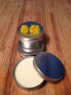 dandelion lotion! Great for anyone who works with their hands, or for dry, sore feet! 4 oz tin $10
