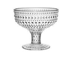 Iittala Kastehelmi Footed Bowl, Rain, Crafted from pressed glass, this artful hobnail bowl will add color and style to any table. Pasta Bowl Set, Soup Bowl Set, Vases, Design3000, Pink Bowls, Blue Bowl, Bowl Light, Ice Cream Bowl, Cream Cups