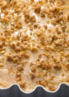 Tarte de banana caramelizada com creme de amendoim