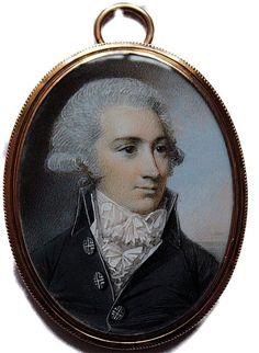 A good portrait of a Gentleman with powdered hair en queue,