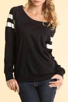 LAYM Boatneck Fleece Sweater In Black & White