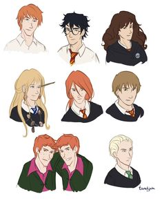Harry Potter Characters by taratjah.deviantart.com on @DeviantArt