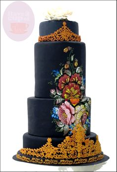 Competition - my final design for Wedding Cake CHallenge 2013.... :)