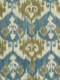 Blue Ikat Fabric by the Yard by greenapplefabrics on Etsy, $49.00