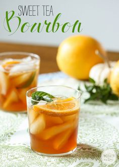 Use agave syrup, mint leaves, and oranges to craft this elegant sweet tea bourbon cocktail.