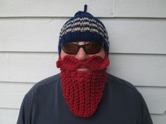 For that red head  Beard hat Beard Beanie Wild Man by Ritaknitsall