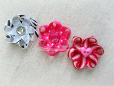 Loopy flower tutorial link to PDF on page