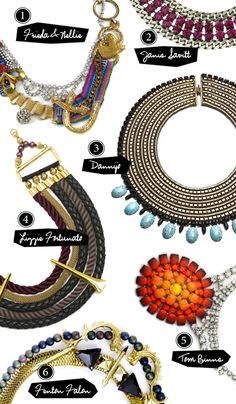 Trends in Jewelry from Frieda & Nellie, Janis Savitt, Dannijo, Lizzie Fortunato, Tom Binns and Fenton Falon