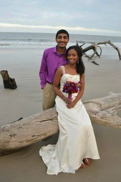 """Amber's story: """"This is a photo of my husband and I. He is Indian and I am African American. After much adversity and nearly 4 years of the both of us being judged by his family and fighting emotionally and spiritually, we became one December 2012. And we're happier and more in love than we've ever been! With God all things are possible!"""" Shared on November 24"""