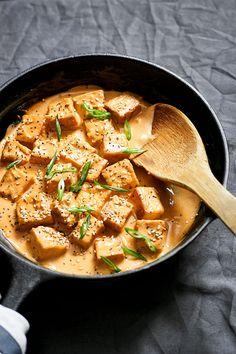 tofu stir fry with tahini