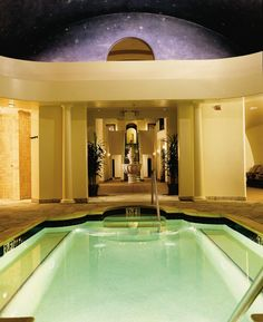 Spa with indoor pool at Fairmont Sonoma Mission Inn and Spa in Sonoma Valley California