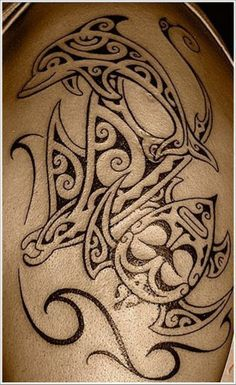 different dolphin tribal tattoo - Google Search
