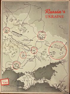 Map of Russia's Ukraine, 1944