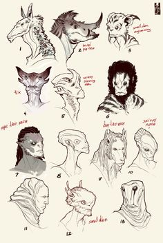 aliens head concept 2 [wanja90] by Zarnala on deviantART armor clothes clothing fashion player character npc | Create your own roleplaying game material w/ RPG Bard: www.rpgbard.com | Writing inspiration for Dungeons and Dragons DND D&D Pathfinder PFRPG Warhammer 40k Star Wars Shadowrun Call of Cthulhu Lord of the Rings LoTR + d20 fantasy science fiction scifi horror design | Not Trusty Sword art: click artwork for source