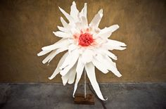 Home-made Giant Paper Flowers for Wedding Ceremony / Reception  http://greenweddingshoes.com/diy-giant-flowers/