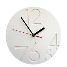 White Large 12.0 Clock - £22 > http://www.modern.co.uk/p/White_Large_12.0.Clock.htm
