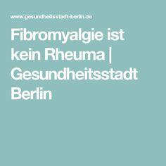 Fibromyalgie ist kein Rheuma | Gesundheitsstadt Berlin