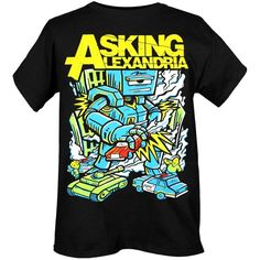 Hottopic - Search Results for asking aexadria ($21) ❤ liked on Polyvore featuring tops, t-shirts, shirts, band tees, black tee, shirts & tops, t shirts, black shirt and black t shirt