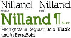 Nilland A Slab-Serif designed by Manfred Klein