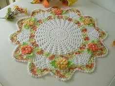 Brand new crochet doily with irish roses and di KroneCrochet Thread Crochet, Crochet Doilies, Crochet Gifts, Free Crochet, Lace Art, Crochet Decoration, Crochet World, Lace Design, Crochet Accessories