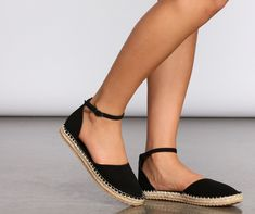 Windsor Call It Complete Espadrille Flats Shoes in Black Flat Shoes Outfit, Boho Shoes, Me Too Shoes, Cute Flats, Cute Sandals, Zara Sandals, Fashion Flats, Sneakers Fashion, Shoes Sneakers