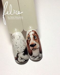 Dog Nail Art, Animal Nail Art, Dog Nails, Animal Nail Designs, Nail Art Designs, Garra, Nail Decals, Creative Nails, Winter Nails