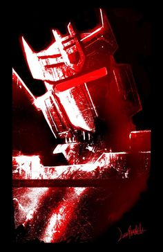 Soundwave Red - Livio Ramondelli ----- http://www.herocomplexgallery.com/collections/red