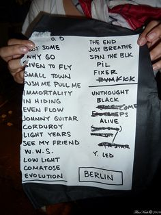 Berlin 2010 Setlist by melbourneflower, via Flickr