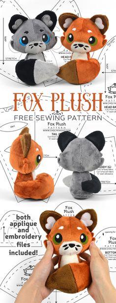 Free Pattern Friday! Fox Plush | Choly Knight Plush, Sewing Patterns, Factory Design Pattern, Patron De Couture, Dress Patterns, Sweatshirt