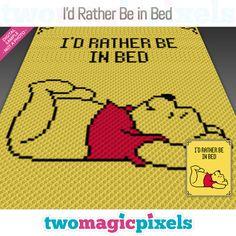 I'd Rather Be In Bed crochet blanket pattern; C2c Crochet Blanket, Crochet For Beginners Blanket, Crochet Fox, Manta Crochet, Crochet Blanket Patterns, Easy Crochet, Crochet Blankets, Crochet Afghans, Beginner Crochet