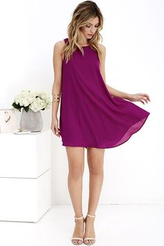 This is a must have!! Love this #magenta #dress #fashion