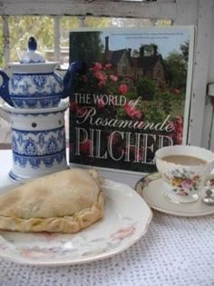 Tea with Rosamunde Pilcher, what could be more British or more interesting?   Well, that pastie looks good, too.