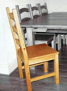 Pine Dining Chair Plans - Furniture Plans and Projects   WoodArchivist.com