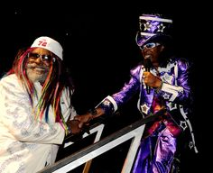 Funk Legends Bootsy Collins and George Clinton Bootsy Collins, Parliament Funkadelic, Funk Bands, George Clinton, Rick James, R&b Soul Music, Music Images, Music Lovers, The Dreamers