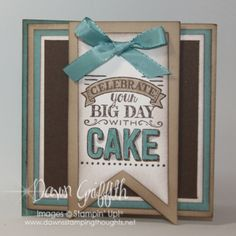 SU! Gift card holder using Big Day stamp set - Dawn Griffith (video on her website)