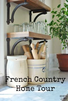 An Unexpected Friend: French Country Home Tour: Take a tour of a beautiful home with a drool worthy kitchen, sweet details and bold paint choices. www.huntandhost.com