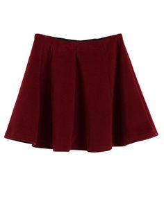 Mid-rise Elastic Waist Pleated Skirt - Clothing