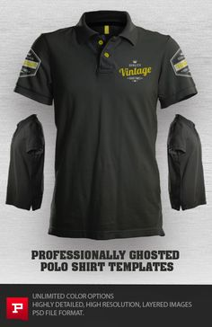 Pro Photoshop Polo Design Template Mockup This Uses Smart Object Displacement Filters To