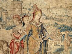 """Designed by Pieter Coecke van Aelst (Netherlandish, 1502–1550). Story of Saint Paul: Preaching to the Women at Philippi tapestry (detail), designed ca. 1529, woven ca. 1535 - 1540. Woven under the direction of Paulus van Oppenem (Flemish). Kunsthistorisches Museum Wien, Kunstkammer. 