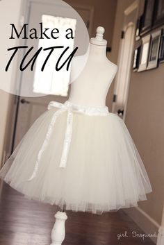 How to Make a Tutu. The best tutorial! Even includes instructions for a lining so there is no scratchy tulle touching the skin.