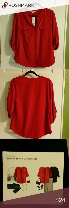 Blouse New with tag this blouse is perfect with a skirt for that office meeting or casual Friday with a pair of jeans so perfect! I bought this through my stitch fix styling but had too many of the same style. Hawthorn Tops Blouses