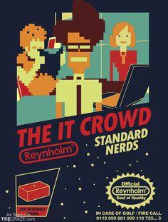 The IT crrowd, une série à voir absolument pour les geeks (Standard Nerds T-Shirt Designed by TomTrager)