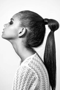 Double Ponytail Have you ever done a double ponytail before? I haven't worn it in years really… I guess ponytail hairstyles haven't been on my list of … Lazy Hairstyles, Retro Hairstyles, Hairstyles For Round Faces, Summer Hairstyles, Stylish Hairstyles, Hairstyles 2018, Popular Hairstyles, Double Ponytail, Sleek Ponytail
