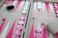 Backgammon façon cuir - Personnalisation client