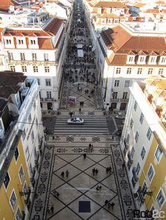 Tapete em pedra Rua Augusta Miradouro Lisboa