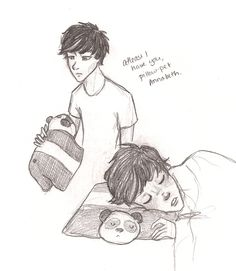 Percy and the pillow pet named Annabeth?! SO CUTE!!... though it makes Octavian that much more evil...
