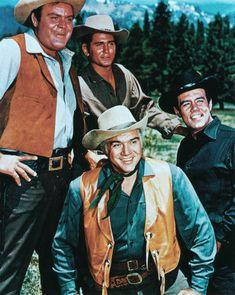 Bonanza 1960, stars Lorne Greene, Pernell Roberts, Dan Blocker & Michael Landon