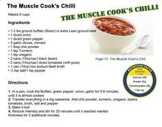 The muscle cooks chilli recipe