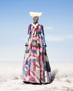 Herero Woman in Patchwork Dress (2012) ©Jim Naughten Image- courtesy of Klompching Gallery, New York City